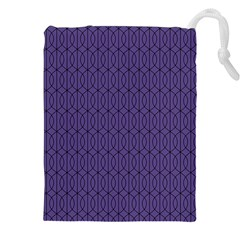 Color Of The Year 2018   Ultraviolet   Art Deco Black Edition 10 Drawstring Pouches (xxl)