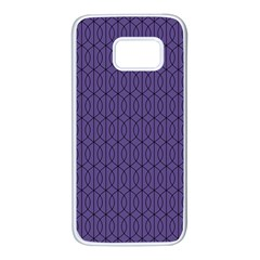 Color Of The Year 2018   Ultraviolet   Art Deco Black Edition 10 Samsung Galaxy S7 White Seamless Case