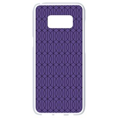 Color Of The Year 2018   Ultraviolet   Art Deco Black Edition 10 Samsung Galaxy S8 White Seamless Case