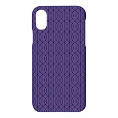 Color Of The Year 2018   Ultraviolet   Art Deco Black Edition 10 Apple Iphone X Hardshell Case