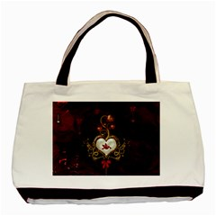 Wonderful Hearts With Dove Basic Tote Bag (two Sides)