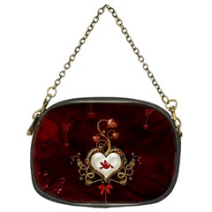 Wonderful Hearts With Dove Chain Purses (one Side)