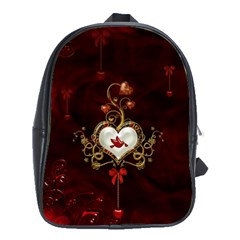 Wonderful Hearts With Dove School Bag (large)