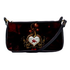 Wonderful Hearts With Dove Shoulder Clutch Bags