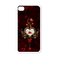 Wonderful Hearts With Dove Apple Iphone 4 Case (white)