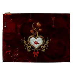 Wonderful Hearts With Dove Cosmetic Bag (xxl)