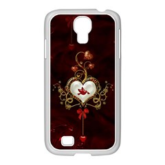 Wonderful Hearts With Dove Samsung Galaxy S4 I9500/ I9505 Case (white)