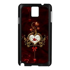 Wonderful Hearts With Dove Samsung Galaxy Note 3 N9005 Case (black)