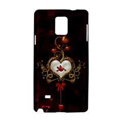 Wonderful Hearts With Dove Samsung Galaxy Note 4 Hardshell Case