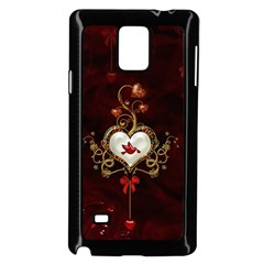 Wonderful Hearts With Dove Samsung Galaxy Note 4 Case (black)