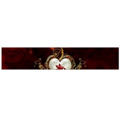 Wonderful Hearts With Dove Large Flano Scarf