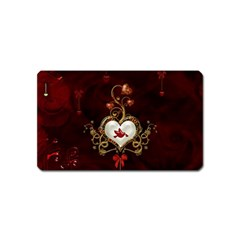 Wonderful Hearts With Dove Magnet (name Card)