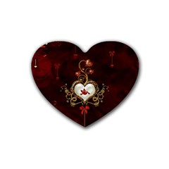Wonderful Hearts With Dove Rubber Coaster (heart)