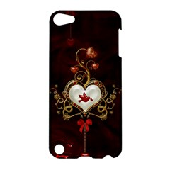 Wonderful Hearts With Dove Apple Ipod Touch 5 Hardshell Case
