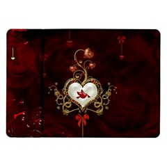 Wonderful Hearts With Dove Samsung Galaxy Tab 10 1  P7500 Flip Case