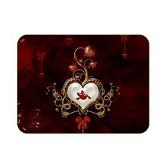 Wonderful Hearts With Dove Double Sided Flano Blanket (mini)