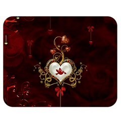 Wonderful Hearts With Dove Double Sided Flano Blanket (medium)