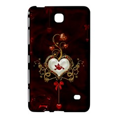 Wonderful Hearts With Dove Samsung Galaxy Tab 4 (8 ) Hardshell Case