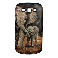 Elephant Mother And Baby Samsung Galaxy S Iii Classic Hardshell Case (pc+silicone)
