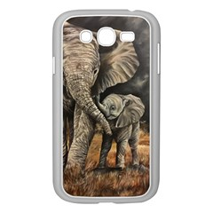 Elephant Mother And Baby Samsung Galaxy Grand Duos I9082 Case (white)