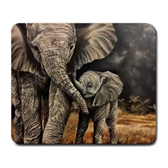Elephant Mother And Baby Large Mousepads