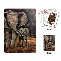 Elephant Mother And Baby Playing Card