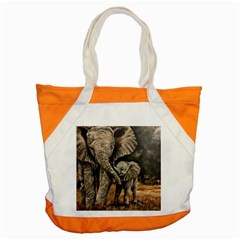 Elephant Mother And Baby Accent Tote Bag