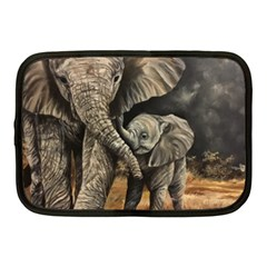 Elephant Mother And Baby Netbook Case (medium)