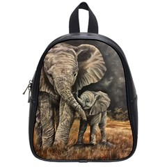 Elephant Mother And Baby School Bag (small)