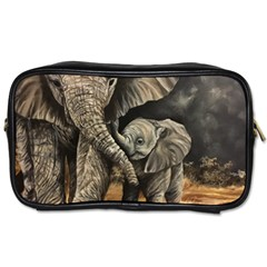Elephant Mother And Baby Toiletries Bags