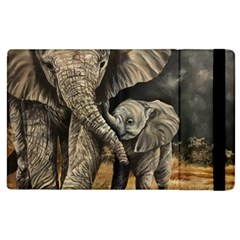 Elephant Mother And Baby Apple Ipad 3/4 Flip Case