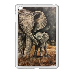 Elephant Mother And Baby Apple Ipad Mini Case (white)