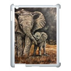 Elephant Mother And Baby Apple Ipad 3/4 Case (white)