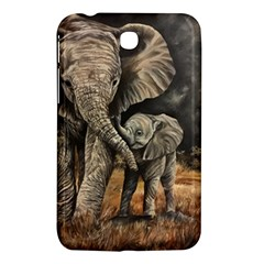 Elephant Mother And Baby Samsung Galaxy Tab 3 (7 ) P3200 Hardshell Case
