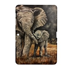 Elephant Mother And Baby Samsung Galaxy Tab 2 (10 1 ) P5100 Hardshell Case