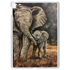 Elephant Mother And Baby Apple Ipad Pro 9 7   White Seamless Case
