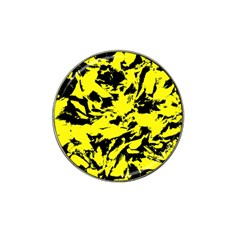 Yellow Black Abstract Military Camouflage Hat Clip Ball Marker (4 Pack)