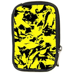 Yellow Black Abstract Military Camouflage Compact Camera Cases