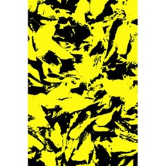 Yellow Black Abstract Military Camouflage 5 5  X 8 5  Notebooks