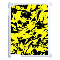 Yellow Black Abstract Military Camouflage Apple Ipad 2 Case (white)
