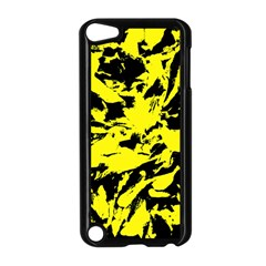 Yellow Black Abstract Military Camouflage Apple Ipod Touch 5 Case (black)