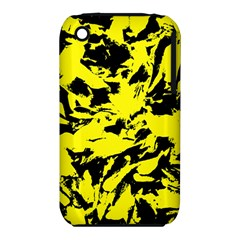 Yellow Black Abstract Military Camouflage Iphone 3s/3gs