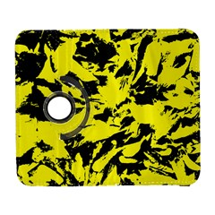 Yellow Black Abstract Military Camouflage Galaxy S3 (flip/folio)