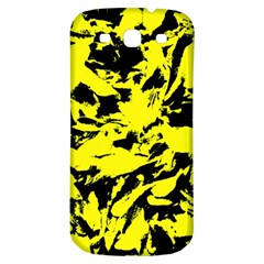Yellow Black Abstract Military Camouflage Samsung Galaxy S3 S Iii Classic Hardshell Back Case