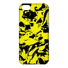 Yellow Black Abstract Military Camouflage Apple Iphone 5c Hardshell Case