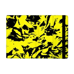 Yellow Black Abstract Military Camouflage Ipad Mini 2 Flip Cases