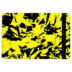 Yellow Black Abstract Military Camouflage Ipad Air 2 Flip