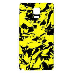 Yellow Black Abstract Military Camouflage Galaxy Note 4 Back Case
