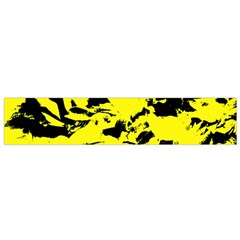Yellow Black Abstract Military Camouflage Small Flano Scarf