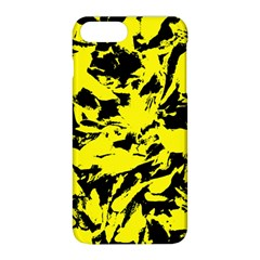 Yellow Black Abstract Military Camouflage Apple Iphone 8 Plus Hardshell Case